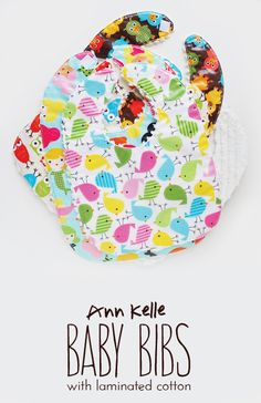 baby bibs tutorial / ann kelle... a cute and cheap gift for a baby shower! or easy to make to have extra bibs around! #baby