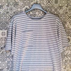 #grey #stripes #musthave #summercolor #tshirtdress #summerdress #dress #stripesdress