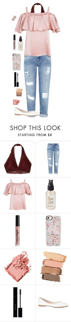 """Summer Sweetheart"" by hopeintheheart ❤ liked on Polyvore featuring Hollister Co., Miss Selfridge, Temperley London, Olivine, NYX, Casetify, Bobbi Brown Cosmetics, Maybelline, Gucci and Allurez"