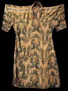 Silk samite robe. 8th-11th century C.E.  (date uncertain).