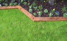Creating garden borders is one of the easiest ways to add character, create defined displays and keep your garden looking tidy. garden edging How to create wooden garden borders
