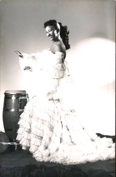 Future salsa queen Celia Cruz circa 1954. From the recently published book, 'Cuba Before Castro.'