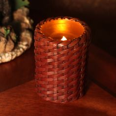 """DFL 3x4""""Wicker Weaving LED Pillar Candle with Timer Real Wax Creative Room Decor 