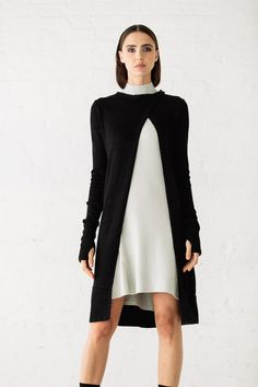 NFP Long Snap Neck Cardigan, Turtleneck Essiential Dress