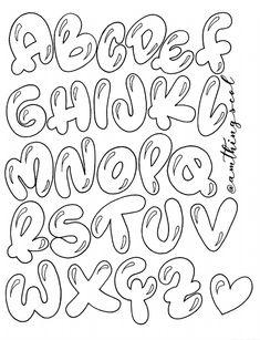 Graffiti Alphabet Styles, Graffiti Lettering Fonts, Doodle Lettering, Lettering Styles, Doodle Fonts, Doodle Art, Tattoo Fonts Alphabet, Hand Lettering Alphabet, Calligraphy Letters