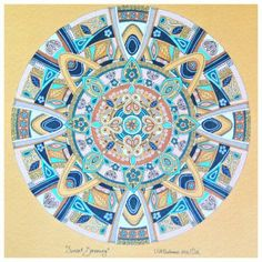 Mandala art by South African artist Lize Beekman 'Sunset Dreaming'