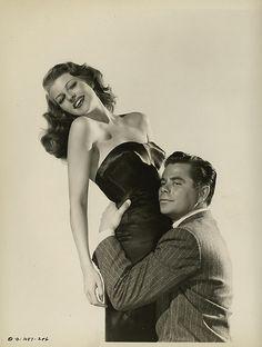 "Rita Hayworth & Glenn Ford in ""Gilda"" (1946). Reminds me of a certain scene…"