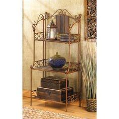 Home Locomotion - Furniture - Rustic Baker`s Rack Shelf