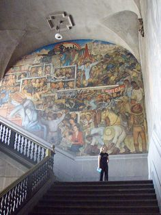 (or part thereof) by Diago Rivera. This massive panoramic mural in the Palacio Nacional, Mexico City, depicts the whole of Mexican history. This section has Karl Marx, top centre.