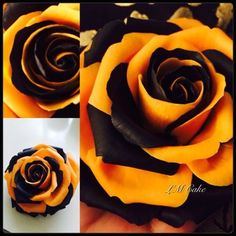 Two Colour Fantasy Sugar rose.  Just for Fun!  Ah, come on.  This is a STEELERS ROSE....
