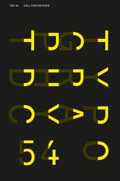 Philippe Apeloig poster calling for entries for Type Directors Club new you