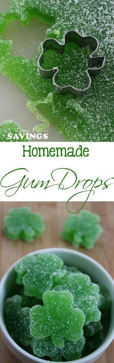 Homemade Gum Drops - 17 Green-Attired St. Patrick's Day Party Food Ideas