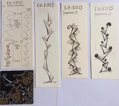 Da Kris Tangle Pattern Step Outs yb tangle doodle too - Sharon robinson Tangle Doodle, Tangle Art, Zen Doodle, Doodle Art, Zentangle Drawings, Doodles Zentangles, Doodle Drawings, Zentangle Pens, Flower Drawings