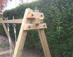 balançoire en bois wooden swing DIY