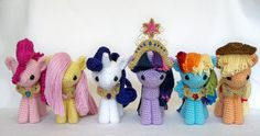 Equestria Daily: Plushie ||| My Little Pony: Friendship Is Magic, Pinkie Pie, Fluttershy, Rarity, Twilight Sparkle, Rainbow Dash, Applejack, elements of harmony, crochet, amigurumi, needle, yarn, plush, stuffed, toy, doll, house, dollhouse, unicorn, pegasus