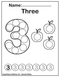 Number 3 three do a dot marker pumpkins free preschool coloring pages Fall Autumn activity for kids Learning Numbers Preschool, Teaching Numbers, Preschool Learning Activities, Free Preschool, Preschool Worksheets, Kids Learning, Kindergarten Coloring Pages, Coloring Pages For Kids, Free Coloring
