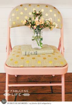 Gold stenciling on burlap. Cool idea!! DIY to Try: 3 Clever Repurposing Projects