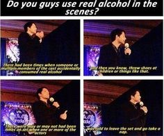 """And Misha """"may or may not"""" have been one of them. #Supernatural"""