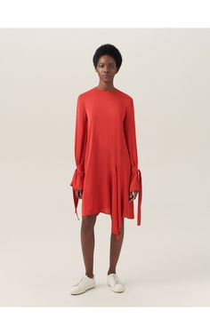 ReDesign dress with tie cuff detail, Dresses, orange, RESERVED