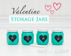 Who LOVES a baby food jar craft? I DO! If you're with me, then check out these cute Valentine storage jars you can make! I love easy repurposing crafts.