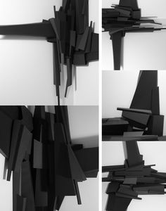 Physical Models on Behance Parametric Architecture, Art And Architecture, Abstract Sculpture, Sculpture Art, Architecture Student Portfolio, Architectural Scale, Deconstructivism, Arch Model, Inspirational Artwork
