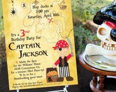 Pirate Invitation Pirate Party Birthday Invite by PartyBijou