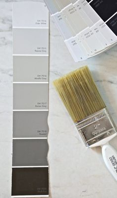 Sherwin Williams Repose Gray and Mindful Gray. Sherwin Williams Mindful Gray is one of the most versatile warm gray paint colors out there. We're sharing examples of this color in action. Sherwin Williams Repose Gray, Dovetail Sherwin Williams, Sherwin Williams Modern Gray, Wordly Gray Sherwin Williams, Passive Sherwin Williams, Sw Repose Gray, Sherwin Williams Elder White, Sherwin Williams Gray Paint, Sherwin Williams Popular Gray