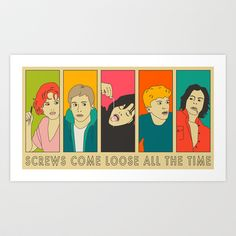 Screws Come Loose All the Time Art Print by Jazzberry Blue