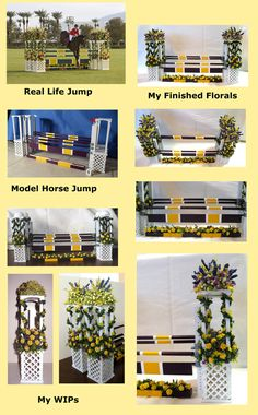 Model horse jump by Xavie Augenblick, flowers by Golden Unicorn Miniatures