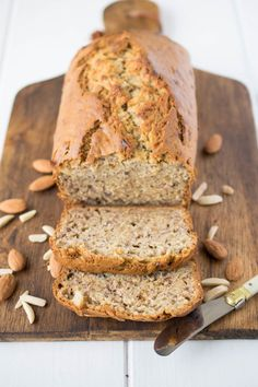 Almond banana bread. My regular recipe is taken to a moist, lighter level with the use of new Dream Ultimate Almond @culinaryginger