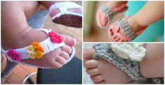 Crochet Baby Sandals - 25 Free Patterns - http://diytag.com/crochet-baby-sandals-25-free-patterns/