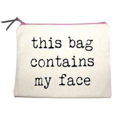 Danyela Slogan Make-Up Bag at http://www.ikrush.com