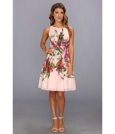 You blossom like a beauty in this Ted Baker™ Carlii Symmetrical Orchid Print Dress!. Gorgeous flor...