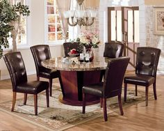 Acme Furniture - Keile 8 Piece Rectangular Dining Table Set ...
