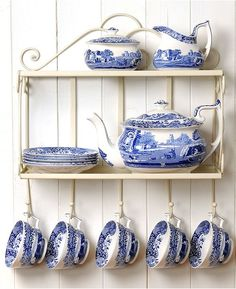 Spode Serveware, Blue Italian Collection - Serveware - Dining & Entertaining - Macy's I love blue and white things.