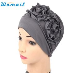 >> Click to Buy << Turban Drop Shipping Women Ruffle Hat Solid Beanie Head Wrap  Headscarf 170705 #Affiliate