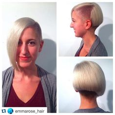 Bob with undercut. Undercut Bob, Throwback Thursday, Cut And Color, Salons, Cabinet, Instagram Posts, Hair, Clothes Stand, Whoville Hair