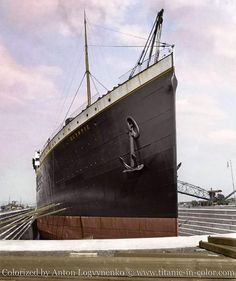 The mighty bow of RMS Olympic, White Star Line.