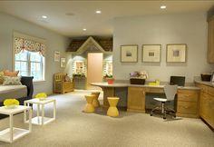 "Kids Playroom Design. Wonderful Playroom Design. #Playroom #Design #paintColor ""Sherwin Williams 7058 Magnetic Grey"""