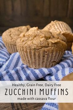 These healthy, grain free and dairy free zucchini muffins are made with cassava flour (which is also gluten free). These nutrient dense muffins are perfect for breakfast, snacks and packed lunches. #paleo #zucchinimuffins #summerrecipes Dairy Free Zucchini Muffins, Sugar Free Muffins, Cassava Flour Recipes, Paleo Honey, Grain Free Bread, Breakfast Snacks, Summer Recipes, Lunches, Food Processor Recipes