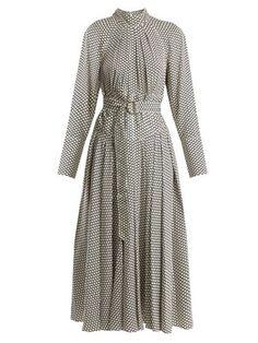 Rowe dot-print stretch-silk dress | Diane Von Furstenberg |  MATCHESFASHION.COM
