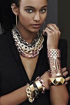 Statement: cuffs, bangles, chains
