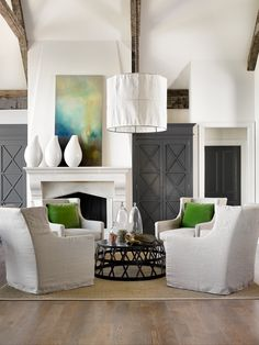 living room | conversation seating | 4 chairs + pendant Melanie Turner