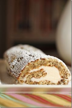 Banana Roll with Cinnamon Cream Cheese