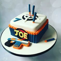 Image result for nerf cake decorations