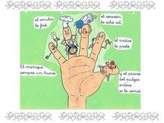 Poema ilustrado (los dedos de la mano) Good to practice the third person in the preterit. Have students change the story to them doing something different. Spanish Teacher, Spanish Classroom, Dual Language, Spanish Language, Preterite Spanish, Spanish Basics, Spanish Teaching Resources, Spanish Humor, Spanish 1