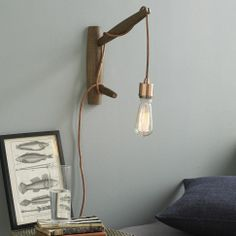 I have this hanging in my kitchen! I bought the bulb and cord from Walmart so it was much less expensive. Angler Sconce | west elm