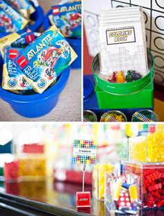 Great idea for a lego race - pairs of children each given a clear pastic tub and a tub of legos - they have to pass their lgo to thier partner, through the tube and catch it in the tub - winner gets a prize (could make chocolate medals using chocolate coins and ribbons?)