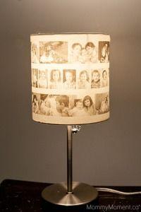DIY-Photo-Lamp-Finished Un abat jour fait de photo collée sur une feuille de papier calque