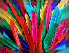 rainbow of feathers